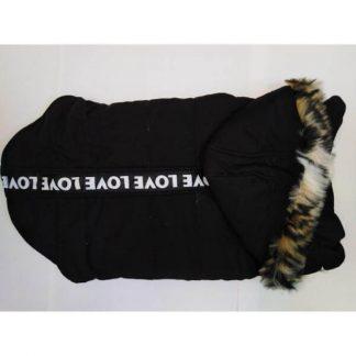 zebrapet-kutyaruha-fekete-32cm-új