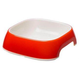 ferplast-glam-műanyag-tál-szögletes-m-piros-075L