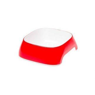 ferplast-glam-műanyag-tál-szögletes-s-piros-0-4L