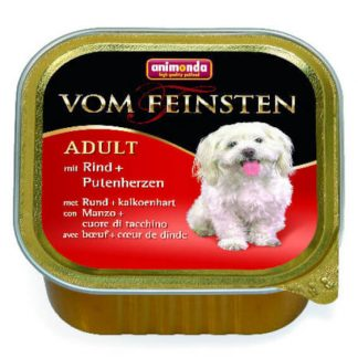 Animonda Vom Feinsten Adult (marha,pulykaszív) alutálkás - Felnőtt kutyák részére (150g)