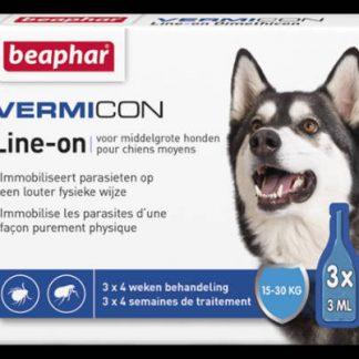 Beaphar-Vermicon-Racsepegteto-oldat-Spot-On-kistestu-kutyak-reszere-15-30kg