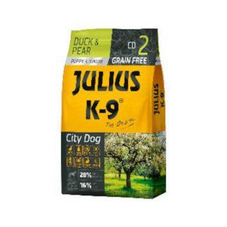Julius-K-9-City-Dog-DuckPear-Puppy-kacsakorte-szaraztap-Kolyok-kutyak-reszere-10kg